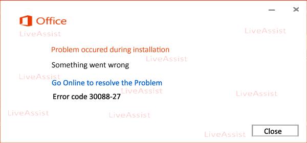 office error code 30088-27