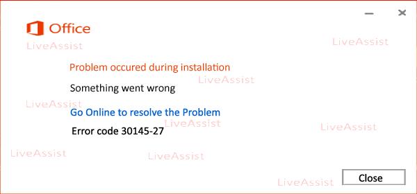 Error code 30145-27